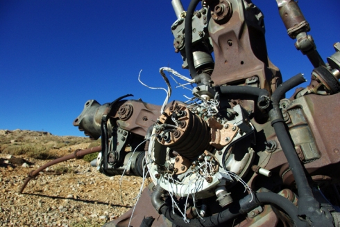Part of a helicopter, Mt. Hermon